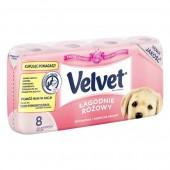 Papier toaletowy VELVET (8rolek) różowy