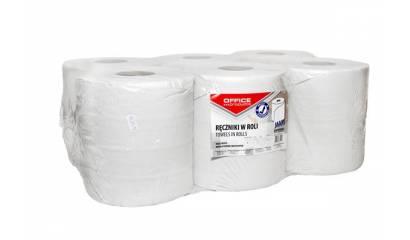 Ręcznik papierowy w roli OFFICE PRODUCTS Maxi 2W,makulatura, biały,120m (6rolek)