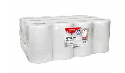 Ręcznik papierowy w roli OFFICE PRODUCTS Mini 2W,makulatura,biały, 60m (12rolek)