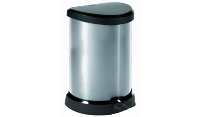 Kosz na śmieci metalizowany CURVER DECObin 20L
