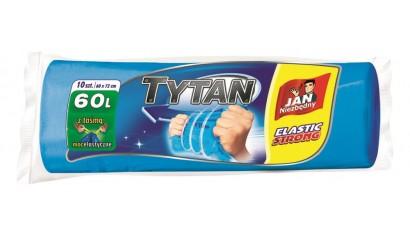 Worki na śmieci 60l JAN NIEZBĘDNY LD Tytan (10szt) z taśmą
