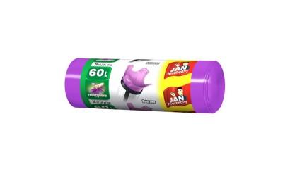 Worki na śmieci 60l JAN NIEZBĘDNY Kolor-mix (20szt) wiązane