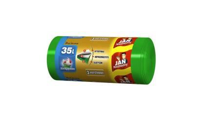 Worki na śmieci 35l JAN NIEZBĘDNY LD 3-warstwowe (24szt) wiązane
