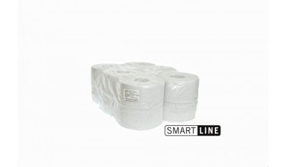 Papier toaletowy SMARTLINE Jumbo Fi180 makulatura,2W,120m,biały (12rolek)