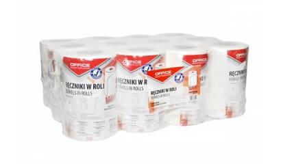 Ręcznik papierowy w roli OFFICE PRODUCTS Mini 2W,celuloza, biały, 50m (12rolek)