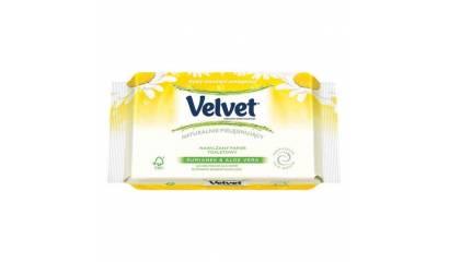 Papier toaletowy nawilżony VELVET rumiankowy (42 listki)