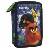Piórnik z wyposażeniem dwukomorowy Angry Birds 13 Derform