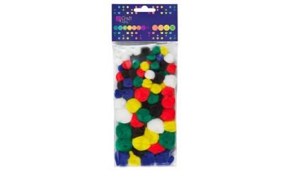 Pompony dekoracyjne DALPRINT akrylowe Mix kolor (78szt) KSPO-001
