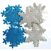 Naklejki z pianki DALPRINT Śnieżynki brokatowe (12szt) KSPI-066