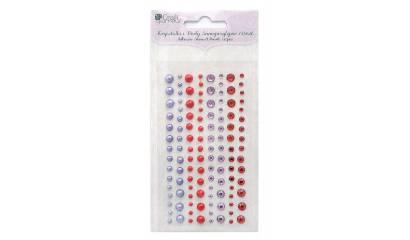 Kryształki i perły samoprzylepne DALPRINT Cranberry&Lavander (120 szt.) GRKP-004