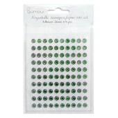 Kryształki samoprzylepne DALPRINT Green (100 szt.) 6 mm GRKR-010