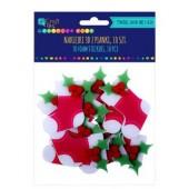 Naklejki z pianki 3D DALPRINT Świąteczne skarpety (10szt) KSPI-392