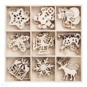 Kształty z drewna DALPRINT Święta (45szt) DPDN-001