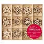 Ozdoby drewniane DALPRINT Papermania-Snowflakes (48szt) PMA-105950