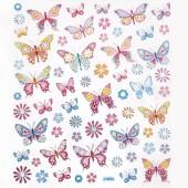 Naklejki DALPRINT Pastelowe Motyle i Kwiaty  63szt. DPNK-007