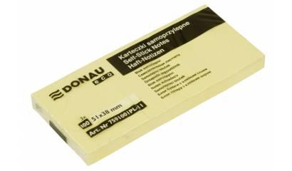 Bloczek samop. DONAU Eco 38x51 (3szt) żółty 7591001PL-11
