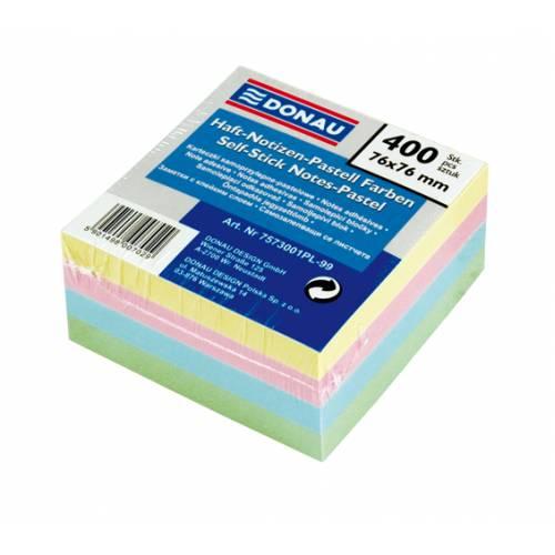 Karteczki samoprzylepne DONAU 76x76 kolor pastel (400) 7573001PL-99