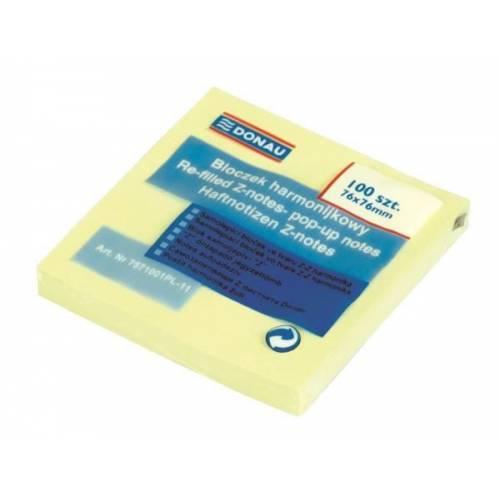 Karteczki samoprzylepne DONAU 76x76 Z-notes (100kart) 7571001PL-11