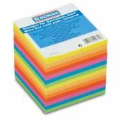 Kostka papierowa DONAU 89x89 / 90mm kolor neon klejona 8315000-99