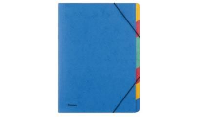 Teczka segregująca z gumką DONAU A4 7 przekładek niebieska 8647119-10