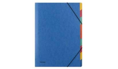 Teczka segregująca z gumką DONAU A4 9 przekładek niebieska 8649119-10