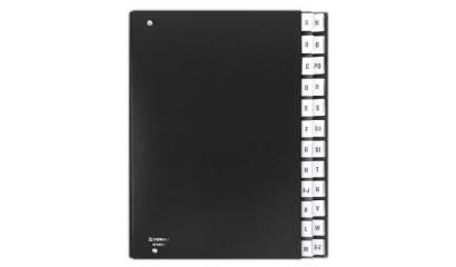 Teczka korespondencyjna DONAU A4 A-Z czarna 8694001-01