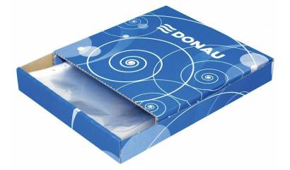 Koszulka krystaliczna DONAU A4 50min w pudełku (100szt) 1772100PL-00B