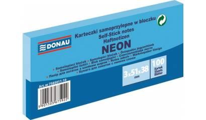Bloczek samop. DONAU 38x51mm neonowy niebieski (3szt) 7585011-10