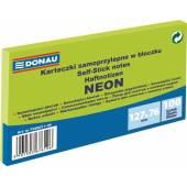 Karteczki samoprzylepne DONAU 127x76mm neonowy zielony (100k) 7588011-06