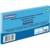 Karteczki samoprzylepne DONAU 127x76mm neonowy niebieski (100k) 7588011-10