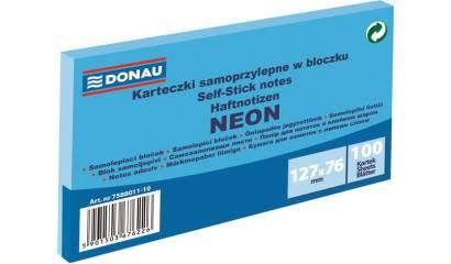 Bloczek samop. DONAU 127x76mm neonowy niebieski (100k) 7588011-10