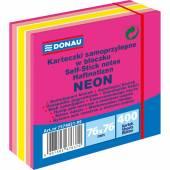 Karteczki samoprzylepne DONAU 76X76 neon różowy (400) 7574021-99