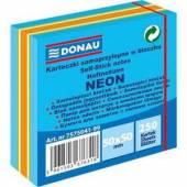 Karteczki samoprzylepne DONAU 50x50 neon niebieska (250) 7575041-99