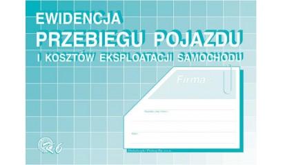 Druk Ewidencja przebiegu pojazdu i kosztów eksploatacji A5 K-6 Michalczyk i Prokop