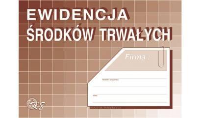 Druk Ewidencja środków trwałych A5 K-8 Michalczyk i Prokop
