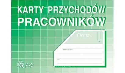 Druk Karty przychodów pracownika A5 K-10 Michalczyk i Prokop
