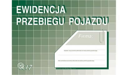 Druk Ewidencja przebiegu pojazdu A5 K-17 Michalczyk i Prokop