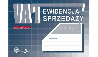Druk Ewidencja sprzedaży VAT A4 VU3U Michalczyki Prokop