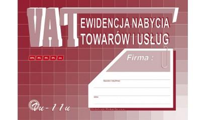 Druk Ewidencja VAT nabycia towarów i usług A4 VU11 Michalczyk i Prokop