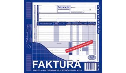 Druk Faktura VAT pełna netto 2/3 A4 (org.+kopia) 102-2E Michalczyk i Prokop