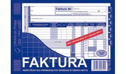 Druk Faktura VATpełna netto A5 (org.+kopia) 103-3E Michalczyk i Prokop