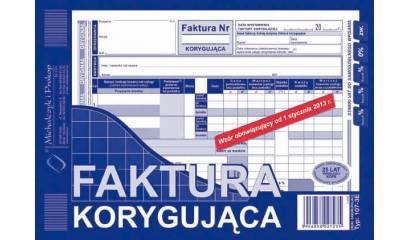 Druk Faktura VATpełna korygująca A5 (org.+kopia) 107-3E Michalczyk i Prokop