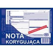 Druk Nota korygująca VATpełna netto  A5 (org.+kopia) 108-3E Michalczyk i Prokop