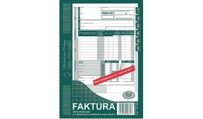 Druk Faktura VAT brutto A5 (org.+kopia) pionowa 124-3E Michalczyk i Prokop