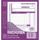 Druk Rachunek dla zwolnionych z VAT 2 / 3 A5 (org.+kopia) 230-4 Michalczyk i Prokop