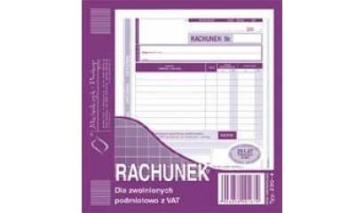 Druk Rachunek dla zwolnionych z VAT 2/3 A5 (org.+kopia) 230-4 Michalczyk i Prokop