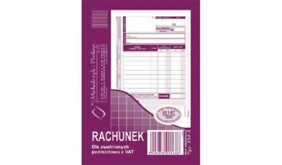 Druk Rachunek dla zwolnionych z VAT A6 (org.+kopia) 232-5 Michalczyk i Prokop