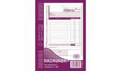 Druk Rachunek dla zwolnionych z VAT A5 (org.+kopia) 233-3 Michalczyk i Prokop