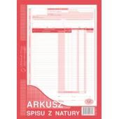Druk Arkusz spisu z natury A4 pion (org.+kopia) 341-1 Michalczyk i Prokop