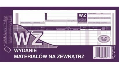 Druk WZ wydanie materiału na zewnątrz 1/3 A4 wielokopia 351-8 Michalczyk i Prokop